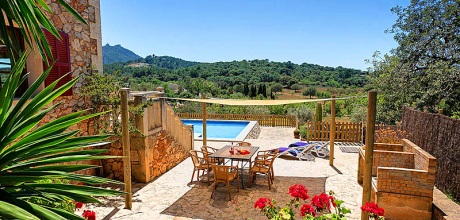 Mallorca Südostküste – Ferienhaus Felanitx 43027 mit Pool, Internet und Ausblick mieten. Wechseltag Samstag.