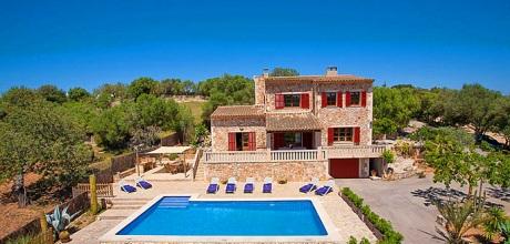 Mallorca Südostküste – Ferienhaus Felanitx 43027 mit Pool, Internet und Ausblick mieten. Wechseltag Samstag. SONDERPREIS JUNI! – 2018 buchbar!