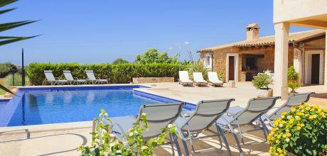 Mallorca Südostküste – Luxusfinca Cala D'Or 4660 mit Pool & Whirlpool, Grundstück 35.000qm, Wohnfläche 250qm. Wechseltag Samstag, Nebensaison flexibel – Mindestmietzeit 1 Woche.