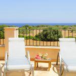 Ferienhaus Mallorca MA4660 Sonnenliegen auf der Dachterrasse