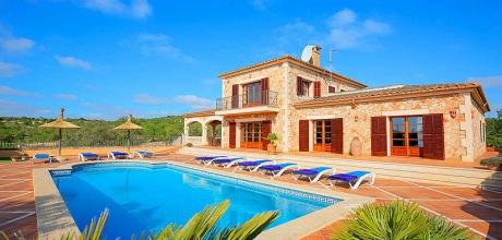 Mallorca Südostküste – Deluxe Finca Alqueria Blanca 4680 mit Pool und herrlichem Panoramablick auf großem Grundstück, Strand ca. 6km. Wechseltag Samstag – Mindestmietzeit 1 Woche. 2018 buchbar.