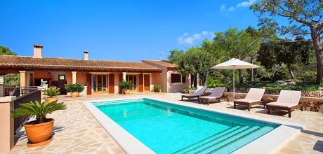 Mallorca Südostküste – Finca Es Carritxo 4790 in ruhiger Lage, Grundstück 7.500qm, Wohnfläche 200qm. Wechseltag flexibel – Mindestmietzeit 1 Woche. Last-Minute Preis im Juli.