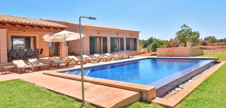 Mallorca Südost – Ferienhaus Cas Concos 4794 mit Pool, Grundstück 16.000qm, Wohnfläche 225qm, An- und Abreisetag flexibel – Mindestmietzeit 1 Woche.