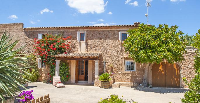 Eingangstüre zur Finca Mallorca mit Pool MA4784