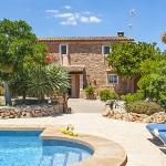 Finca Mallorca 4784 - Poolbereich mit Liegen