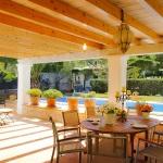 Villa Mallorca 4804 - überdachte Terrasse mit Gartenmöbel