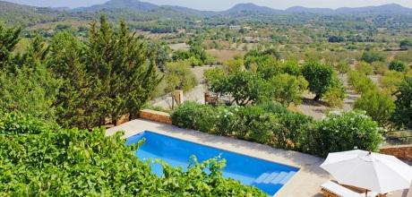 Mallorca Südostküste – Deluxe Villa S'Alqueria Blanca 4700 mit Pool & Weitblick, Grundstück 12.000qm, Wohnfläche 230qm. An- und Abreisetag Samstag, Nebensaison flexibel – Mindestmietzeit 1 Woche.