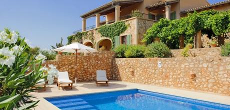 Mallorca Südostküste – Deluxe Villa S'Alqueria Blanca 4700 mit Pool & Weitblick, Grundstück 12.000qm, Wohnfläche 230qm. An- und Abreisetag Samstag. 2017 jetzt buchen!