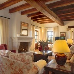 Villa Mallorca MA4700 Wohnraum mit Kamin