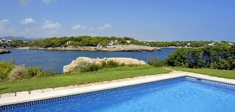 Mallorca Südostküste – Komfort Villa Cala D'Or 4821 mit Pool und Internet direkt am Meer mieten. Wechseltag Samstag.