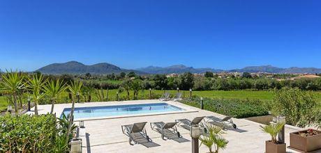 Mallorca Nordküste – Komfortables Ferienhaus Alcudia 4398 mit Pool, Internet und Tennisplatz mieten, Strand 1,5km. Wechseltag Samstag.