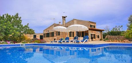 Mallorca Nordküste – Ferienhaus Can Picafort 4068 mit Pool, Grundstück 15.000qm, Wohnfläche 150qm. Wechseltag flexibel – Mindestmietzeit 1 Woche.