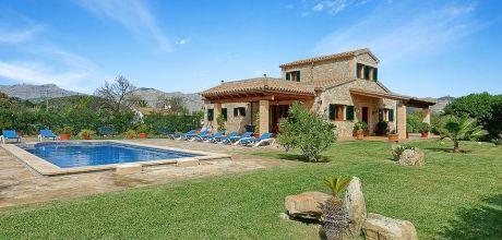 Mallorca Nordküste – Ferienhaus Pollensa 4394 mit Pool in großem Garten mieten, Strand 3,5km. Wechseltag Samstag, Nebensaison flexibel – Mindestmietzeit 1 Woche. 2018 jetzt buchen!