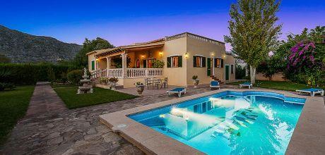 Mallorca Nordküste – Ferienhaus Pollensa 4404 mit Pool und Internet, Strand 4km. Wechseltag Samstag, Nebensaison flexibel – Mindestmietzeit 1 Woche.