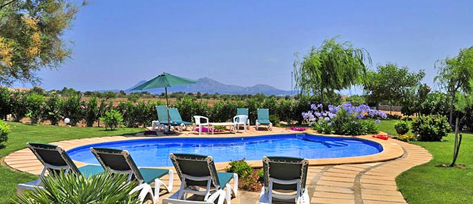 Ferienhaus Mallorca MA4293 - Poolbereich mit Sonnenliegen