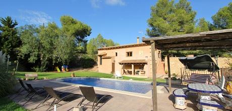Mallorca Südostküste – Ferienhaus S'Horta 3991 mit Pool und Panoramablick, Grundstück 21.000qm, Wohnfläche 130qm. Wechseltag flexibel – Mindestmietzeit 1 Woche. – 2017 jetzt buchen!