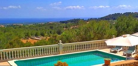 Mallorca Südostküste – Ferienhaus S'Horta 3965, ruhige Lage mit Meerblick, Grundstück 18.000qm, Wohnfläche 120qm. 2016 Wechseltag flexibel Mindestmietzeit 1 Woche. 2018 buchbar.
