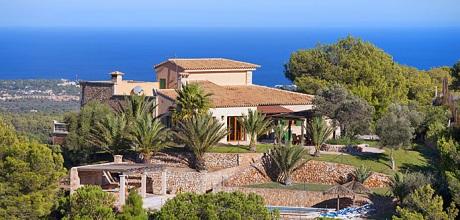 Mallorca Südostküste – Komfort Ferienhaus S'Horta 3930 mit Pool und herrlichem Panoramablick bis zum Meer, Grundstück 7.000qm, Wohnfläche 198qm. An- und Abreisetag nur Samstag.