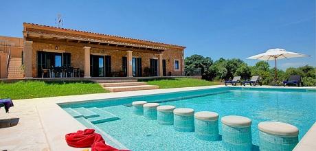 Mallorca Südostküste – Deluxe-Ferienhaus Cas Concos 33183 mit Pool und Internet für 6 Personen mit Panorama-Ausblick. An- und Abreisetag Samstag.