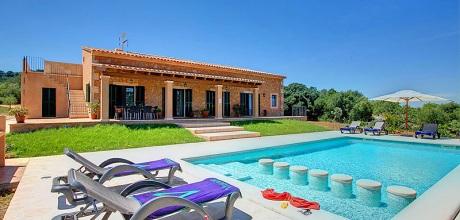 Mallorca Südostküste – Deluxe-Ferienhaus Cas Concos 33183 mit Pool und Internet für 6 Personen mit Panorama-Ausblick. Wechseltag Samstag! 2018 buchbar!