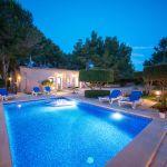 Ferienhaus Mallorca MA3879 Beleuchtung am Abend
