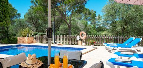 Mallorca Südostküste – Ferienhaus Cala Sanau 3879 mit Pool in Strandnähe (400m), Grundstück 4.500qm, Wohnfläche 120qm. An- und Abreisetag Samstag..