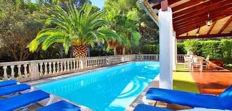 Mallorca Südostküste – Ferienhaus Porto Petro 3880 mit Pool in Strandnähe (1km), Grundstück 1.200qm, Wohnfläche 250qm. An- und Abreisetag Samstag!