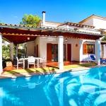 Ferienhaus Mallorca MA3880 Poolbereich mit Liegen