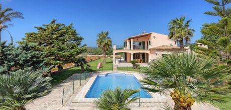 Mallorca Südostküste – Deluxe-Ferienhaus Cala Sanau 3941 mit Pool & Internet in Strandnähe (1,3km) mieten. Wechseltag Samstag, Nebensaison flexibel auf Anfrage. 2019 buchbar.