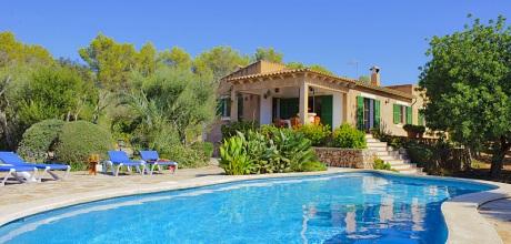 Mallorca Südostküste – Komfort-Ferienhaus Felanitx 3955, Grundstück 8.000qm, Wohnfläche 140qm. Wechseltag Samstag, Nebensaison flexibel – Mindestmietzeit 1 Woche.