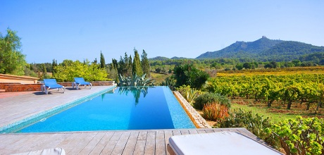 Mallorca Südostküste – Komfort Ferienhaus Felanitx 3014 mit Pool, Grundstück 10.000qm, Wohnfläche 140qm. Wechseltag flexibel – Mindestmietzeit 1 Woche