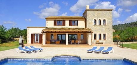 Mallorca Südostküste – Komfort Ferienhaus Calonge 3925 mit Pool, Internet und Meerblick, Strand 4,7km. Wechseltag Samstag, Nebensaison auf Anfrage – Mindestmietzeit 1 Woche