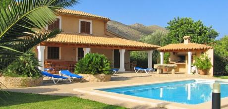 Mallorca Nordküste – Ferienhaus Pollensa 3722 mit Pool, Strand 4,6km, Grundstück 7.100qm, Wohnfläche 164qm. An- und Abreisetag nur Samstag. – 2018 jetzt buchen!