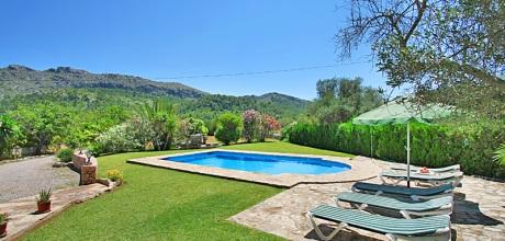 Mallorca Nordküste – Ferienhaus Cala Vicente 3560 mit Pool und schönem Ausblick, Strand 2,8km, Grundstück 36.000qm, Wohnfläche 130qm. An- und Abreisetag nur Samstag.