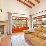 Finca Mallorca 3560 - Wohnbereich mit Kamin