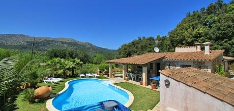 Mallorca Nordküste – Finca Pollensa 3590 mit Pool, beheiztem Whirlpool, Tennis und Flair mieten, Wechseltag Samstag! 2018 jetzt buchen!