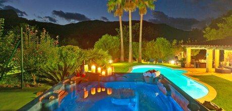 Mallorca Nordküste – Finca Pollensa 3590 mit Pool, beheiztem Whirlpool, Tennis, Putting-Green und Flair mieten, Wechseltag Samstag!