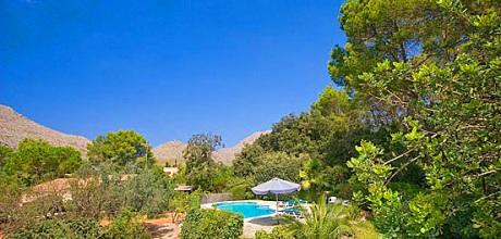 Mallorca Nordküste – Ferienhaus Pollensa 3501 mit Internet und Pool für 6 Personen mieten, Strand 2,5km. Wechseltag Samstag/Dienstag, Nebensaison flexibel auf Anfrage.