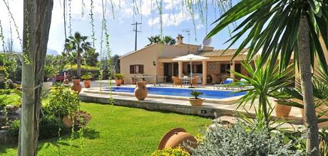 Mallorca Nordküste – Ferienhaus Pollensa 3410 mit Pool, Internet und schönem Garten mieten. Wohnfl. ca. 160 qm, An- und Abreisetag Samstag.