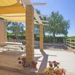Ferienhaus Mallorca MA3065 überdachte Terrasse (2)