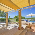 Ferienhaus Mallorca MA3065 überdachte Terrasse