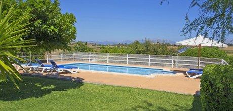 Mallorca Nordküste – Ferienhaus Margalida 3065 mit Internet und Pool, Grundstück 7.000qm, davon Garten 1.000qm. Wechseltag flexibel – Mindestmietzeit 1 Woche!