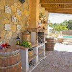 Ferienhaus Mallorca MA3069 Grill auf der Terrasse