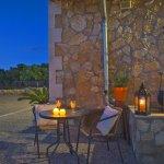 Ferienhaus Mallorca MA3069 Terrasse im Kerzenschein