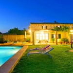 Ferienhaus Mallorca MA3274 - Haus und Pool beleuchtet