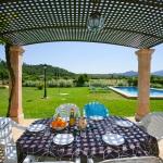 Ferienhaus Mallorca MA3274 Terrasse mit Blick auf den Pool