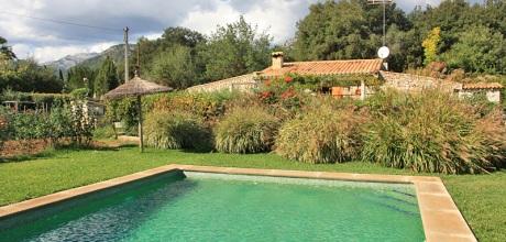 Mallorca Nordküste – Ferienhaus Campanet 3338 mit Pool in ruhiger Lage, Grundstück 2.300qm, Wohnfläche 80qm. Wechseltag flexibel – Mindestmietzeit 1 Woche