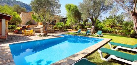 Mallorca Nordküste – Ferienhaus Pollensa 3365 mit Pool in idyllischer Lage, Grundstück 11.000qm, Wohnfläche 150qm. An- und Abreisetag nur Samstag.