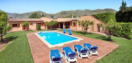Mallorca Nordküste – Komfort-Ferienhaus Pollensa 3561 mit Pool und Internet für 6 Personen, Strand 4,9km. Wechseltag Samstag/Dienstag, Nebensaison flexibel auf Anfrage.