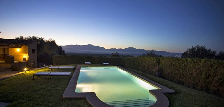Mallorca Nordküste – Komfort Finca Llubi 3088 mit Pool und herrlichem Panoramablick, Grundstück 28.000qm, Wohnfläche 240qm, Wechseltag flexibel – Mindestmietzeit 1 Woche!